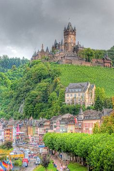 Cochem Castle Germany. I used to live just down the road from here some 20 years ago. Wonderful memories of Cochem!
