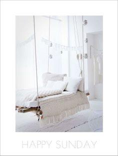 I love indoor hammocks...