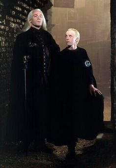 Lucius Malfoy and Draco Malfoy