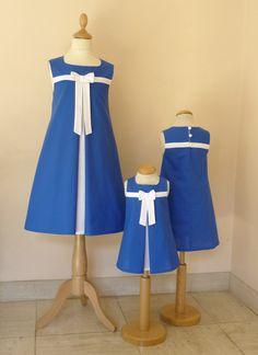 cortège Suzanne en bleu et blanc