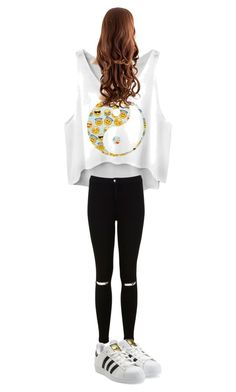 """""""schooloutfit #2"""" by xmattanjax ❤ liked on Polyvore featuring Miss Selfridge and adidas Originals"""