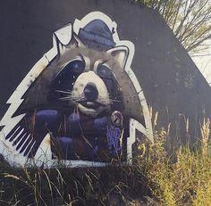 Great artwork by @misterwoodland #mural #wallart #sprayart #spraypaint #portrait #animal #drawing #painting #arteurbano #streetart #graphicdesign #contemporaryart #awesome