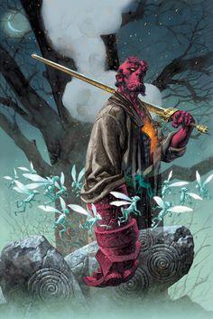 Duncan Fegredo Image of Hellboy: Passing 2 Hellboy Tattoo, Hellboy 1, Hellboy Movie, Illustrations, Illustration Art, Hellboy Wallpaper, Rogue Comics, Mike Mignola Art, Valiant Comics
