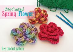 Free Crochet Pattern - Crocheted Spring Flower