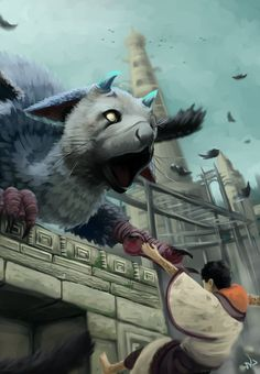 I will catch you (The last guardian) by VigourDragon.deviantart.com on @DeviantArt