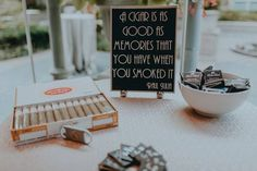 As You Wish Exclusive: Our Fave   Favors | Gatsby Wedding | Unique Wedding Favors | Cigars and Customized Boxes of Matches