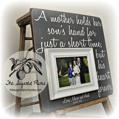 Parents Wedding Gifts, Parents Bride Groom, MOM DAD Sign, Father of ...