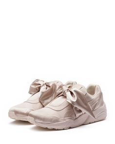 b39495152080 Fenty Puma by Rihanna Trinomic Bandana Satin Sneaker. Pink Wedge ShoesShoes  ...