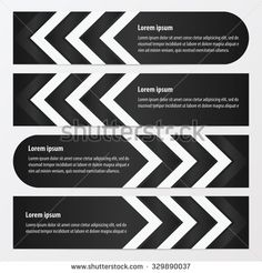 Arrow Banner Design  black and white color