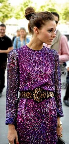 Love this fashionable mix of leopard print on a favorite style icon of mine, Olivia Palermo.