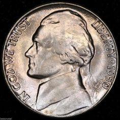 40-coin roll 1950-D Jefferson Nickels ~ Original Brilliant Uncirculated ~ (