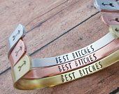 Best Bitches Bracelet - Best Friends Matching Bracelets - Best Friend Jewelry - Birthday Gift For Best Friend - Bridesmaid Bracelets