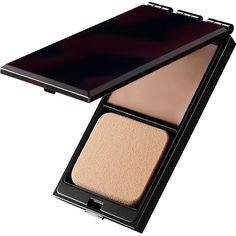 Serge Lutens Beaute Compact Foundation (1,760 MXN) ❤ liked on Polyvore featuring beauty products, makeup, face makeup, foundation, apparel & accessories, dark and powder foundation