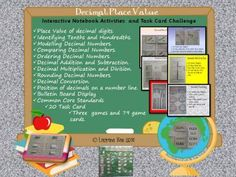 DECIMAL NUMBERS PLACE VALUE INTERACTIVE NOTEBOOK COMMON CORE - 112 pages from TeachToTell on TeachersNotebook.com -  (112 pages)  - This unit has everything you would like to teach on working with Decimal Numbers. It has a perfect blend of interactive notebook activities, task cards and interesting games.
