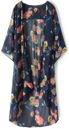 This fab floral kimono is gorgeous!! We love all those vibrant colors! They al play off of each other so well! This kimono will liven up any outfit!