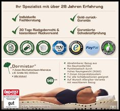 Gesunder und ausreichender Schlaf ist wichtig für unseren Körper um sich von den Alltagsstress zu erholen und wieder Fit für den nächsten Tag zu sein. Im Schlaf beginnt die Regeneration und Verarbeitung. Um aber einen erholsamen Schlaf zu bekommen sind auch die äußeren Bedingungen wichtig, wie unter anderem die Beschaffenheit von Bett und Matratze. Nur so kann überhaupt ein erholsamer schlaf eintreten. Besonders wichtig ist hierbei die Wahl der richtigen Matratze.