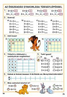 Albumarchívum Math Humor, Close My Eyes, Preschool Math, Periodic Table, Crafts For Kids, Teacher, Train, Album, Early Education