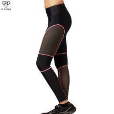 B.BANG 2016 New Fitness Women Running Pants Ladies Slim Legging Quick Dry Sports Tights for Gym Running