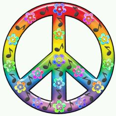 Very large music sign peace symbol