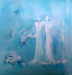 Solfrid Skarseth, Elegance 2 Acrylic on canvas on ArtStack Disney Characters, Canvas, Painting, Abstract Art, Art, Character, Abstract