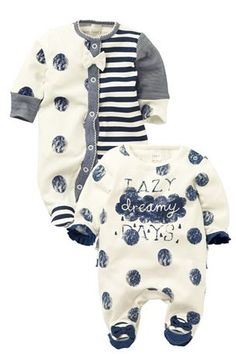 Pretty Sleepsuits Two Pack (0-2yrs) from the Next UK online shop