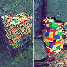 Street art with Lego