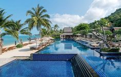 Happy Saturday everyone! Remember to soak up all the little pleasures of lifelike a relaxing dip on a hot sunny afternoon. Pictured here is the beachfront pool at Thailand's InterContinental Samui Baan Taling Ngam Resort. It's a little inspiration to start planning those mid-year vacations! #KohSamui #Thailand #Travel #Wanderlust