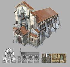 Новости Fantasy City, Fantasy House, Building Concept, Building Design, Environment Concept Art, Environment Design, Medieval Houses, Great Paintings, Fantasy Inspiration