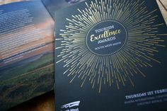 South West Tourism Awards Brochure   #tourism #awards #southwest #brochure #foiling #print #design #excellence #finish #specialeffects