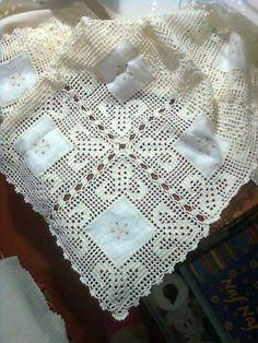 Free Crochet Doily Patterns, Crochet Lace Edging, Crochet Borders, Crochet Doilies, Stitch Patterns, Fillet Crochet, Crochet Tablecloth, Linens And Lace, Knitting Designs