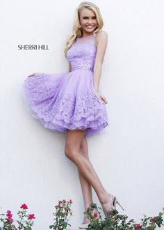 Sherri Hill 2014 Prom Dress Purple | Short Prom Dresses :: Sherri Hill :: Sherri Hill 11091 Light Purple ...