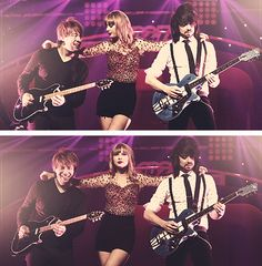 Paul, Taylor and Grant. Still counts as Graylor. iHeart radio festival.