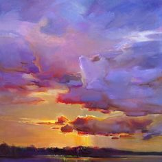 """Violet Ceiling,"" by Holly Ready. Oil, 18"" x 18,"" available at Maine Art Paintings and Sculpture."