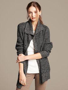 Waffle Knit Cardigan Coat