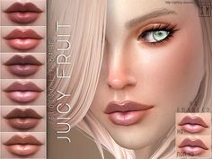 The Sims Resource: Juicy Fruit - Glossy Lip Balm by Screaming Mustard • Sims 4 Downloads