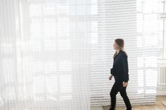 Borås Cottons design Strimma by Essy Winnerholt. It's available in 3 meters widht, the pattern is reversible.
