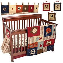 "I wasn't going to do a theme but this is really cute and looks ""vintagey""  NoJo My Little MVP 9-Piece Crib Bedding Set - NoJo - Babies ""R"" Us"