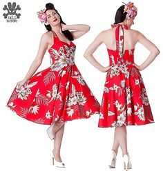 Hell Bunny | Red Tropical Alika Dress