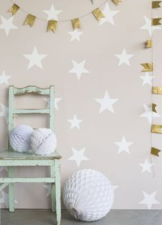 Gorgeous Stars #wallpaper design by Hibou Home from the new Hibou Home 3 collection.