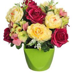 Rose Hydrangea Arrangement in Vase