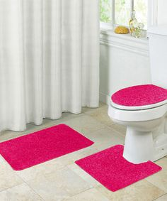 Chells Home 5 Pc Bathroom Sets Bath Mats Rugs Toilet Covers Wine Red,Brown Black