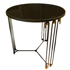 1stdibs - Jean Royere Rare Round Coffee Table In Black Painted  Iron explore items from 1,700  global dealers at 1stdibs.com