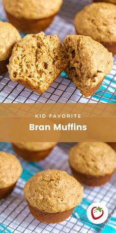 These muffins have a buttery, nutty flavor and amazingly soft texture and will win your kids over with their first bite. Bran Muffins, Mini Muffins, Baby Led Weaning Breakfast, All Bran, Gluten Free Waffles, Super Healthy Kids, Food Pack, Good Food, Yummy Food