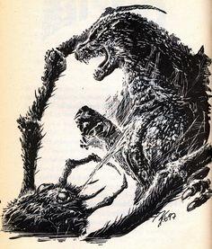Bob Eggleton created some absolutely amazing Godzilla artwork that first appeared in Godzilla Invades America by Scott Ciencin.