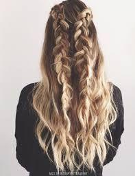 Ash Blonde Hair Loose Braids Double Dutch Braids Curly