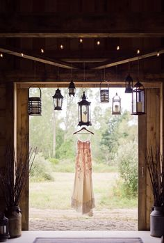Love the lanterns with this stunning Claire Pettibone gown http://fabyoubliss.com
