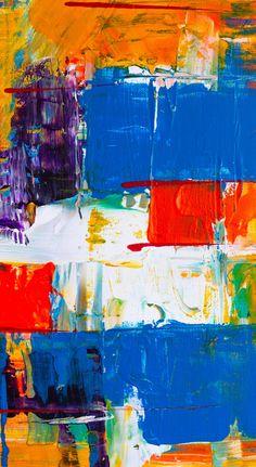 Colorful, modern art, brush marks, texture, 1440x2630 wallpaper