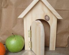 Fairy door handmade wooden door outdoor or by FunnyBunny345