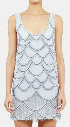 Nicole Miller  Scalloped Fringe Dress- footless tight idea