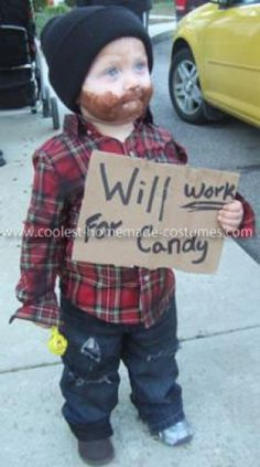 Will Work For Candy - Funny Halloween Costumes for Kids